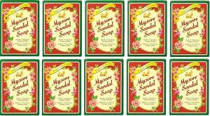 Original Mysore Sandal / Sandalwood Soap 75g x 10pc Export Quality