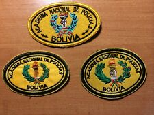 POLICE PATCH BOLIVIA - ACADEMY unit - ORIGINAL! Lot 3 patches.