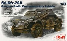 SD.KFZ 260 (EUROPEAN & AFRIKA KORPS MARKINGS) W/PHOTOETCHED PARTS 1/72 ICM
