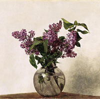 Art Oil painting Henri Fantin Latour - Lilacs Nice purple flowers in glass vase
