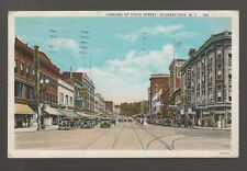 [42998] 1932 Postcard showing early automobiles on State Street, Schenectady, Ny
