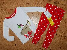 Pijama ~ nuevo ~ estados unidos ~ Carter 's ~ 2 pzas. ~ 74-80 ~ pijama ~ ropa de noche larga ~ ~ alce ~ reno ~