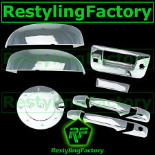 07-13 GMC Sierra Chrome Top Half Mirror+2 Door Handle+Tailgate+Camera+GAS Cover