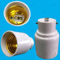 White Bayonet BC B22 To Edison Screw ES E27 Light Bulb Adaptor Lamp Holder