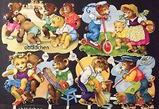 # GLANZBILDER # PZB 1295 spielende Bärenkinder , süß und sehr selten