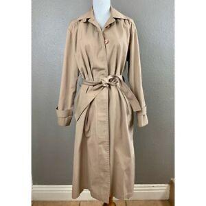 London Fog tan tie waist trench coat