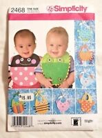 Simplicity Pattern 2468 BABY BIBS One Size - New