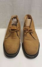 HY-TEST Mens Steel Toe Safety Shoes Ankle Boots Brown Suede 7 1/2 D