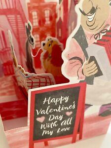 Hallmark Paper Wonder Pop-Up Valentine's Card With Envelope- DISNEY LADY & THE T