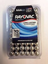 RAYOVAC 824 60PPJ High Energy Premium AAA Alkaline Batteries 60 Pack NEW!!