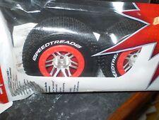 Dynamite dyn5119 12mm Hex Speed Treads Konekt Mounted Tire Set (Slash Front) nip