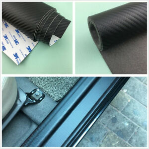 120cmX50cm Universal Car Carbon Fiber Leather Door Scuff Plate Guard Step Cover
