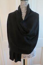 Portolano Ribbed Cashmere Wrap – Black – NWT - $450