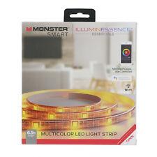 Monster Smart Google Assistant Multicolor LED Light Strip – 6.5 ft - NEW