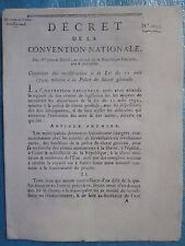 DECRET 1792 : POLICE DE SURETE GENERALE, 12 pages in-4.