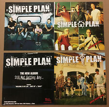 Simple Plan Rare 2004 Double Sided Promo Poster Flat for Still Cd 24x12 Mint Usa