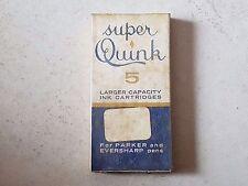 Cartridge ink cartouche encre PARKER SUPER QUINK stylo plume penna pen nib 鋼筆