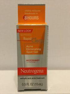 Neutrogena Rapid Clear Acne Eliminating Spot Gel 0.50 oz Exp 03/2021