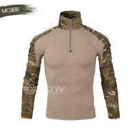 Multicam Mens Tactical Combat Airsoft Frog Suit Set Shirt Military UniformJersey
