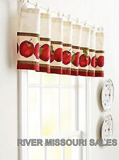 """Apples Window Valance,Modern 60"""" x 14"""", Colorful Look Of Fresh-Picked Fruit- NEW"""