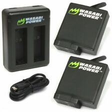 Wasabi Power Battery Set Kit with USB Charger for GoPro HERO 3 4 5 & 6 Go Pro