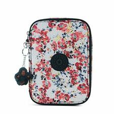 Kipling 100 PENS Pencil Case  Busy Blossoms- Authentic New with Tags