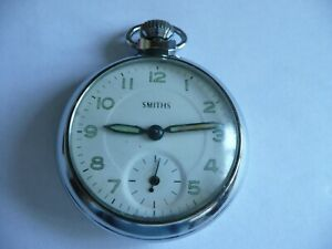 VINTAGE SMITHS POCKET WATCH WITH CHAIN. LOVELY CLEAN EXAMPLE.