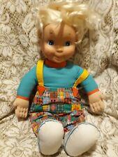 Vintage 1993 Playskool My buddy Doll Blonde Hair Blue Eyes Patchwork clothes