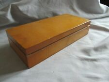 Vintage Wooden Pencil Box Stamped Foreign