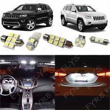 17 White LED interior lights package kit 2011-2019 Jeep Grand Cherokee+Tool JG1W