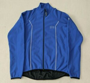 Gore Bike Wear Windstopper Soft Shell Cycling Jacket Blue Women's XL