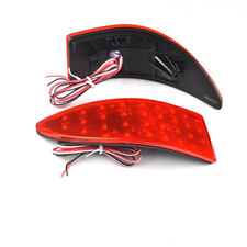 Fit For Lexus IS250 IS350 JDM Red LED Rear Bumper Reflector Brake Stop Lights