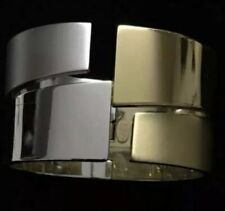 Lanvin⚡️RARE vintage gold/silver tone avant garde sculpture bangle bracelet