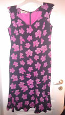 Red Carpet Escada lujo verano dress flores vestido rosa Silk 40/42 np980 M L us 8