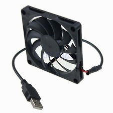 2PCS x PC USB Lüfter 8cm Fan 80x80x10mm DC 5V sehr leise Kühler 80mm black
