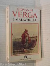 I MALAVOGLIA Giovanni Verga Mondadori Oscar 13 1974 libro romanzo narrativa di