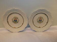 A  Pair Of Ridgways Renaissance Blue Basket and Scrolls Dinner Plates  Rid21