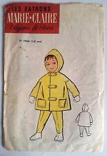 4)Patron Marie-Claire; Manteau à Capuchon 1-2 ans