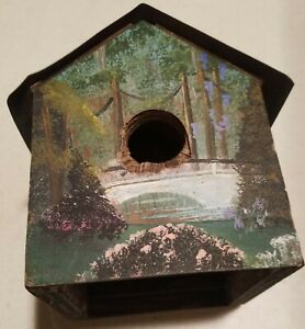 Homemade Painted Bird House - Weathered - Nice Looking Painted Sides/Copper Top