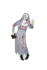 Karnival Halloween Zombie Nun Costume