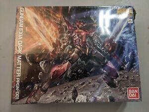 New Bandai MG Gundam EXIA DARK MATTER 1/100 scale Kit Box Dent Rip
