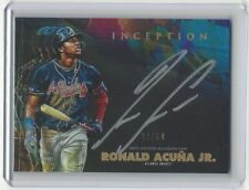 2020 Topps Inception RONALD ACUNA JR. Silver Signings Auto /50 SP! CASE HIT WOW!