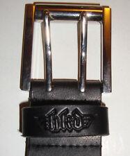 """FLIP Skateboard Co' - 32"""" Cintura in pelle-nera-logo in rilievo FLIP"""