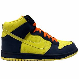 Size 12 - 2009 Nike Dunk High Homer Simpson Voltage Yellow / Navy SB 317982 772
