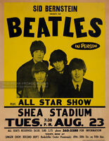 1966 THE BEATLES Concert Advertising Poster * Shea Stadium * Queens New York NYC