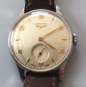 Longine watch 1960s mens steel case
