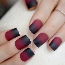 24Pcs Set DIY Artificial Short Full Cover False Fake Matte Nails Art Tip S