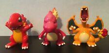 TOMY Pokemon Figures Toy Lot CGTSJ Charmander Charmeleon Charizard Set of 3