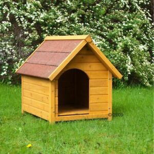 Large Wooden Dog Kennel, Winter Warm, PET House Weather, Waterproof Roof, NEW