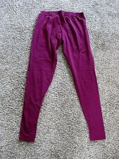 Lux Lyra Leggings One Size Fuschia Ankle Length Cotton Lycra Yoga Pant NWT